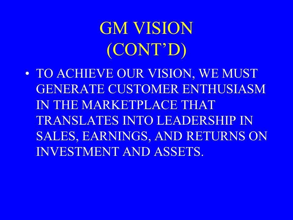 GM VISION (CONT'D)