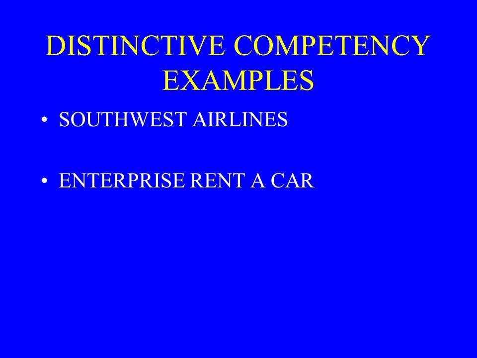 DISTINCTIVE COMPETENCY EXAMPLES