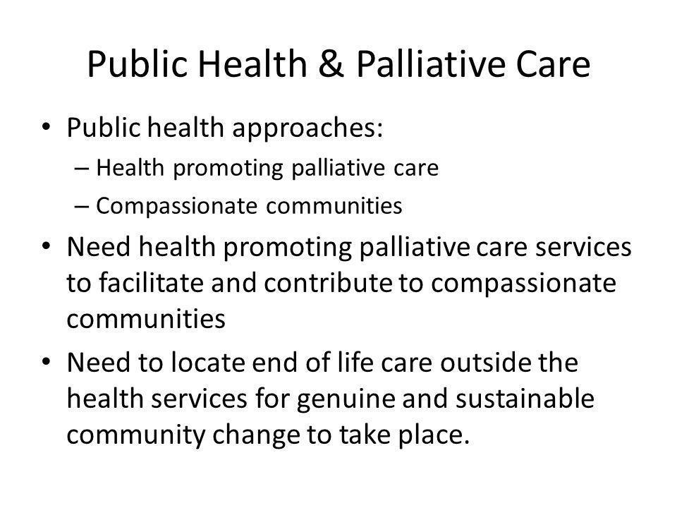 Public Health & Palliative Care