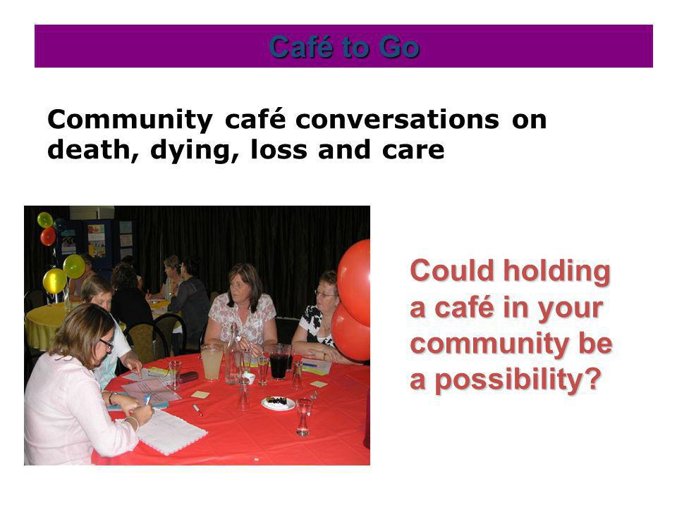 Community café conversations on death, dying, loss and care