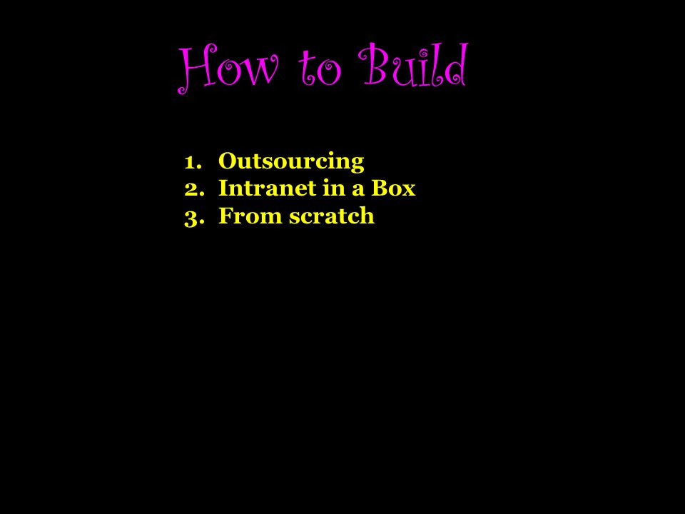 How to Build Outsourcing Intranet in a Box From scratch