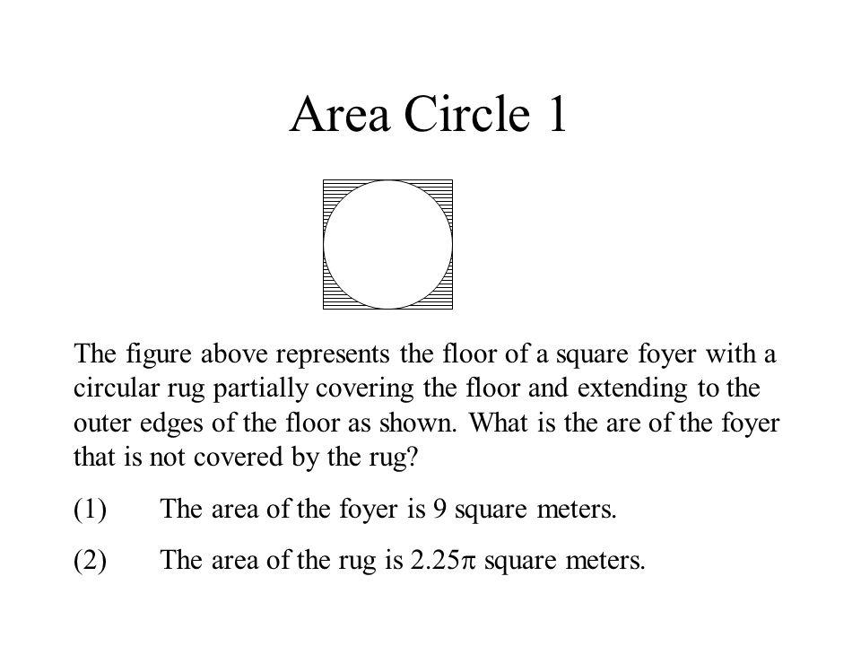 Area Circle 1