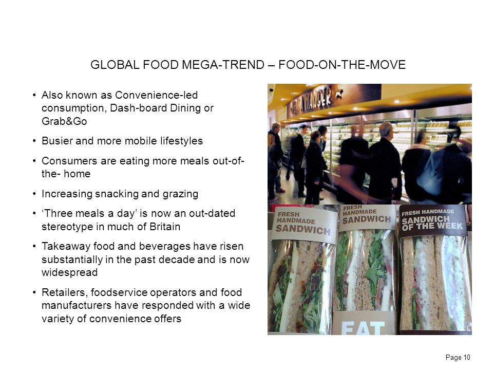 GLOBAL FOOD MEGA-TREND – FOOD-ON-THE-MOVE