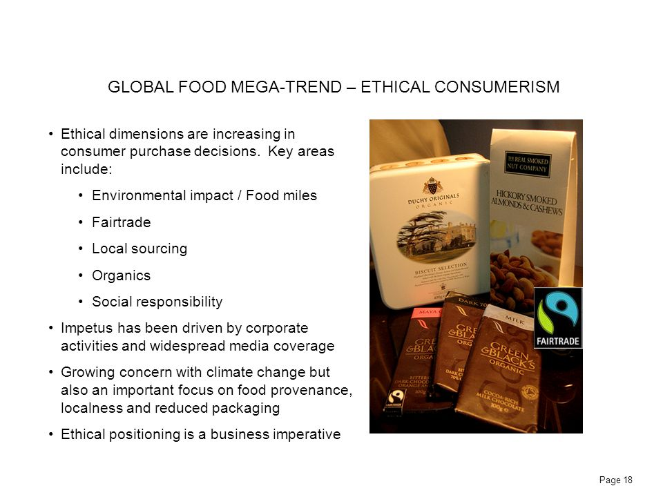GLOBAL FOOD MEGA-TREND – ETHICAL CONSUMERISM