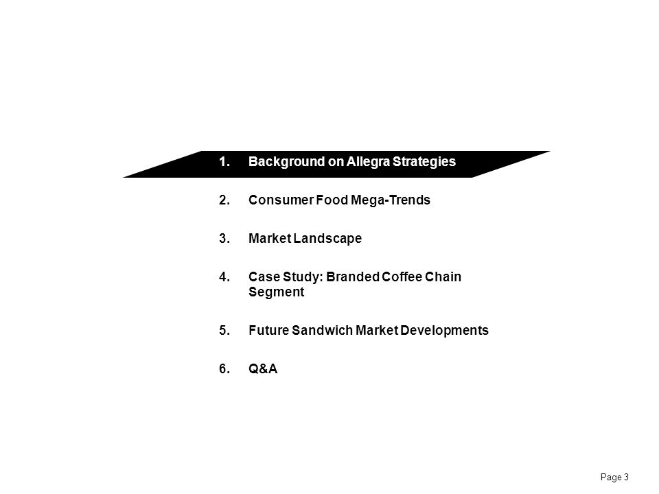 Background on Allegra Strategies Consumer Food Mega-Trends