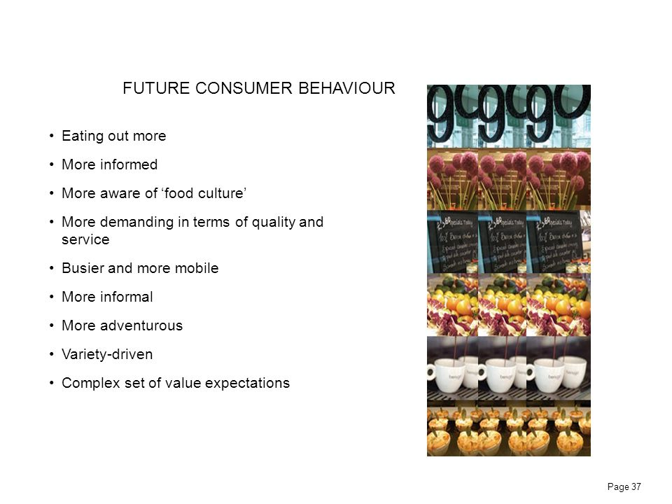 FUTURE CONSUMER BEHAVIOUR