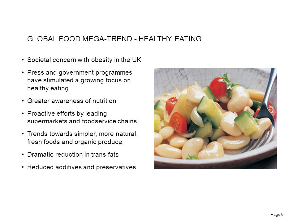 GLOBAL FOOD MEGA-TREND - HEALTHY EATING