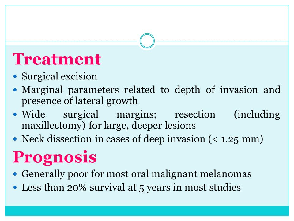 Treatment Prognosis Surgical excision