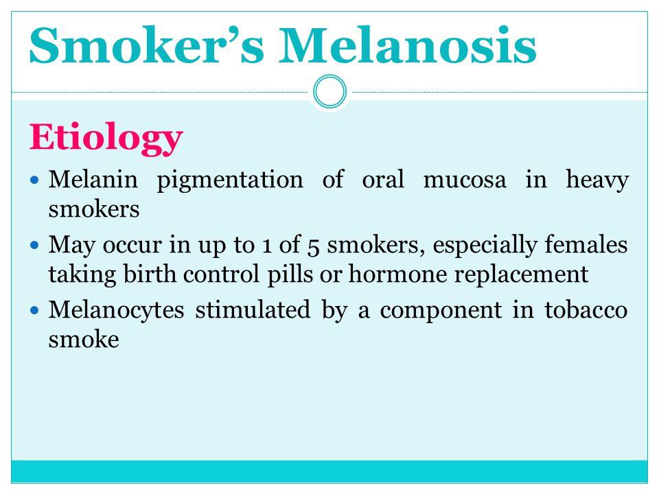 Smoker's Melanosis Etiology