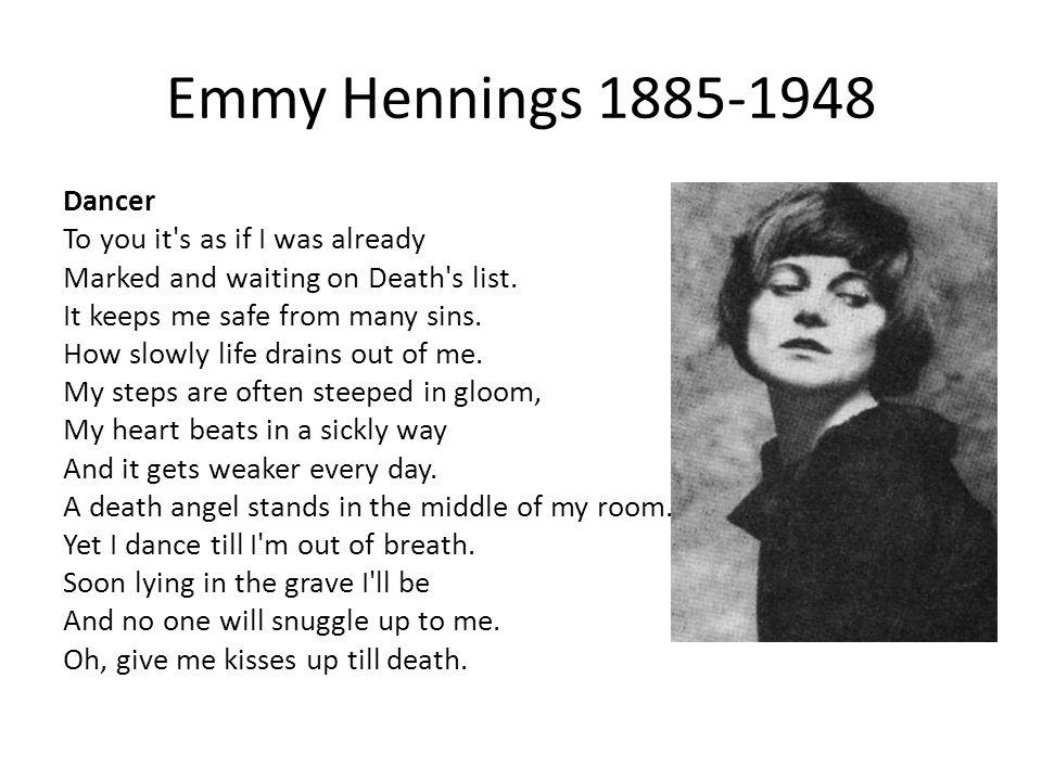 Emmy Hennings 1885-1948
