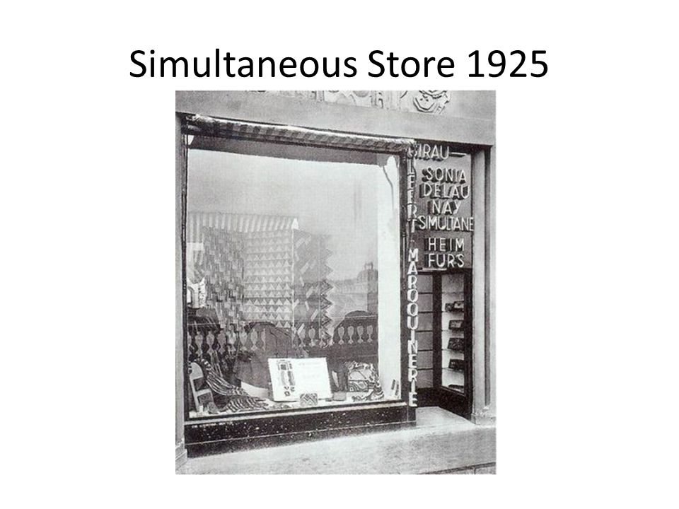 Simultaneous Store 1925