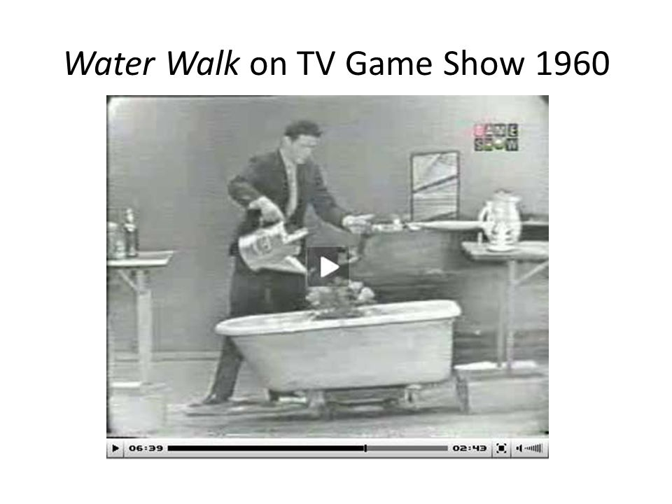 Water Walk on TV Game Show 1960