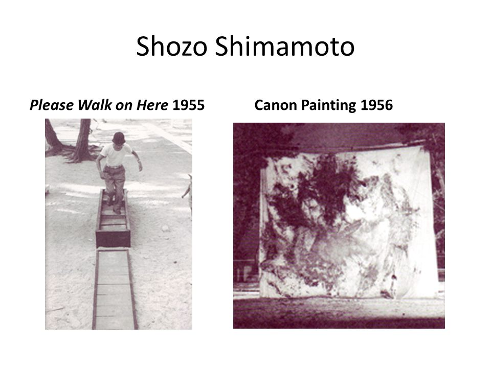 Shozo Shimamoto Please Walk on Here 1955 Canon Painting 1956