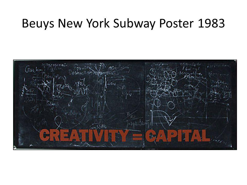 Beuys New York Subway Poster 1983