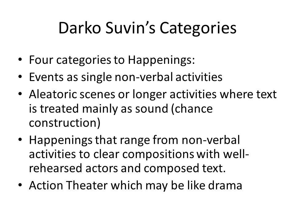 Darko Suvin's Categories