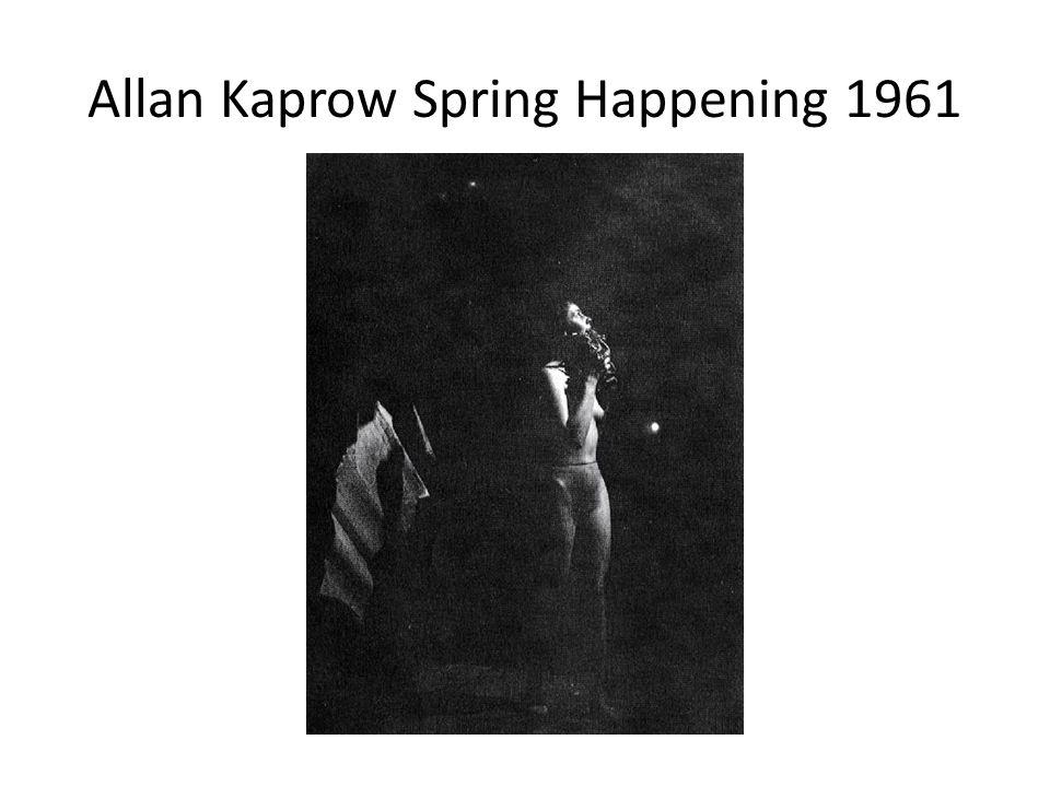 Allan Kaprow Spring Happening 1961