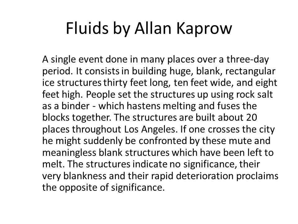 Fluids by Allan Kaprow