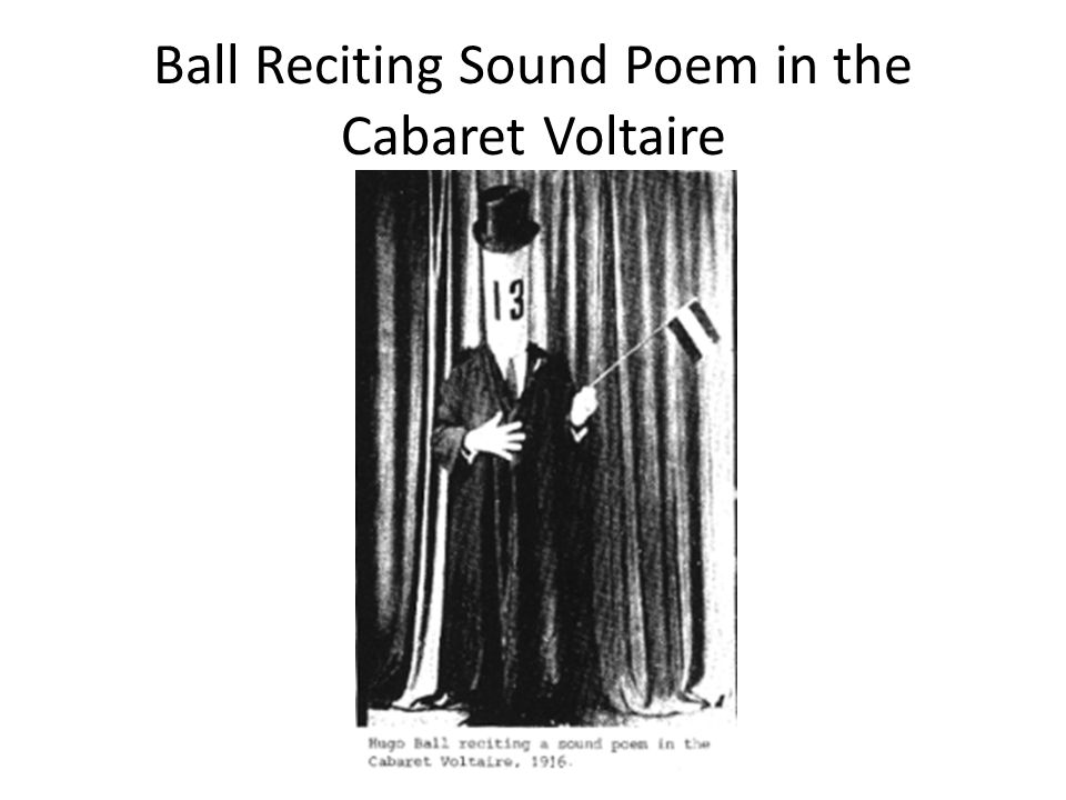 Ball Reciting Sound Poem in the Cabaret Voltaire