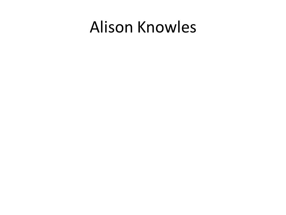 Alison Knowles