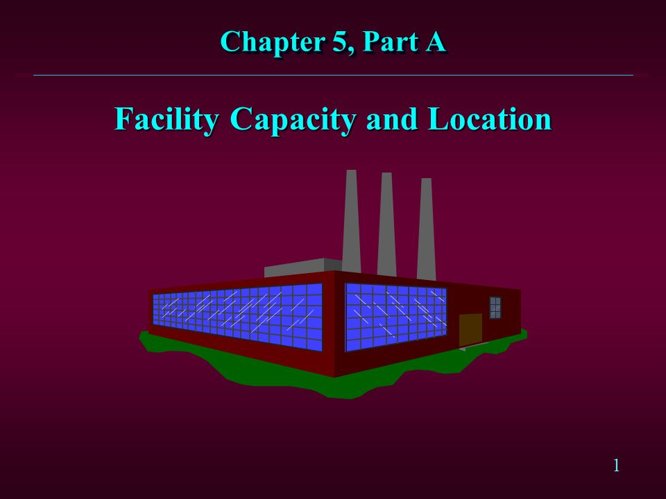 Facility Capacity and Location