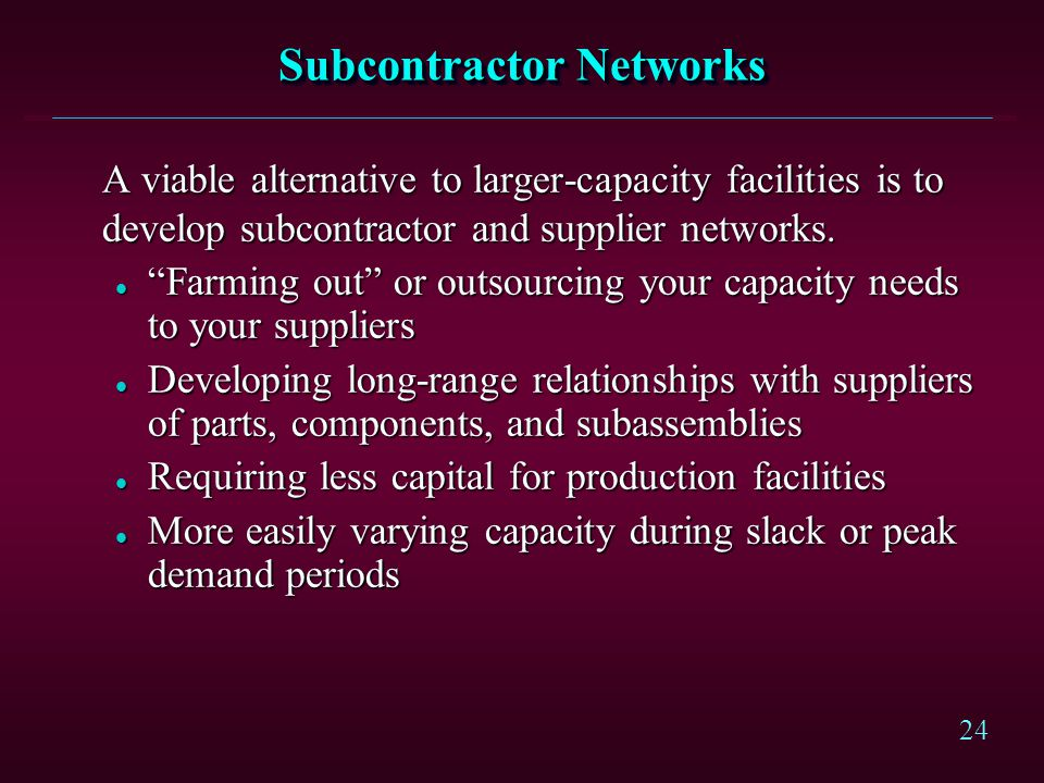 Subcontractor Networks