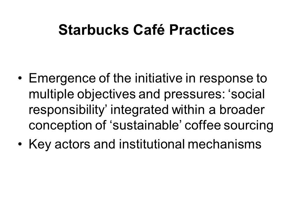 Starbucks Café Practices
