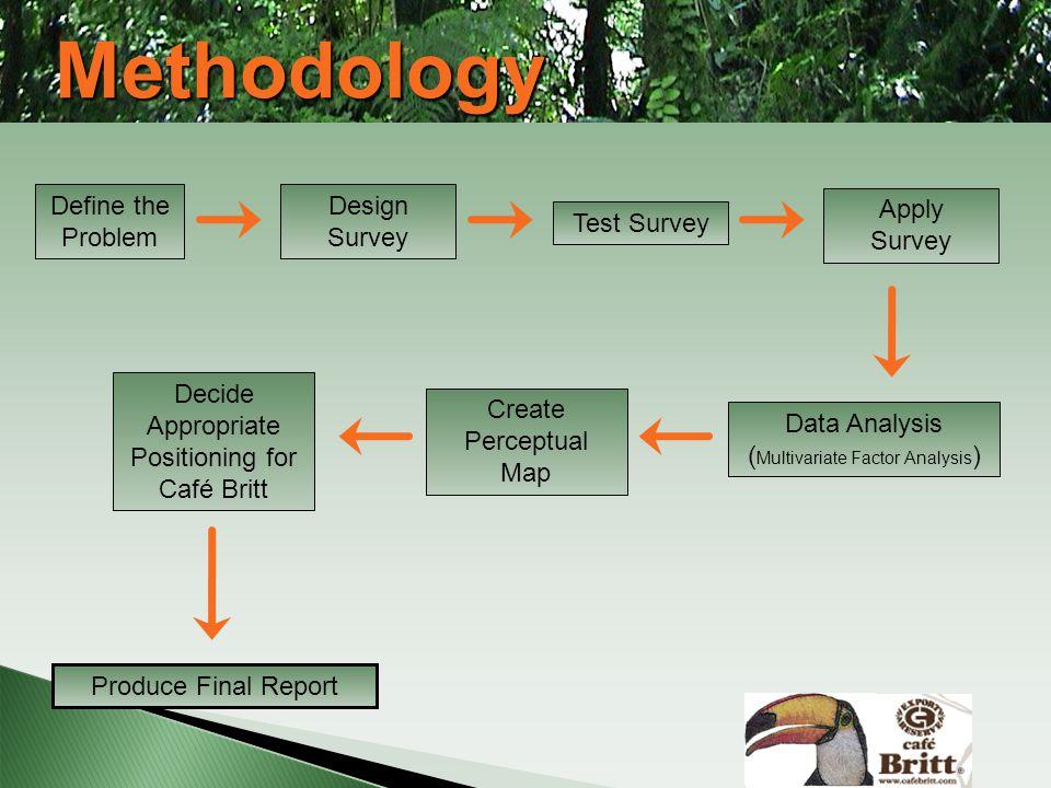 Methodology Define the Problem Design Survey Apply Survey Test Survey