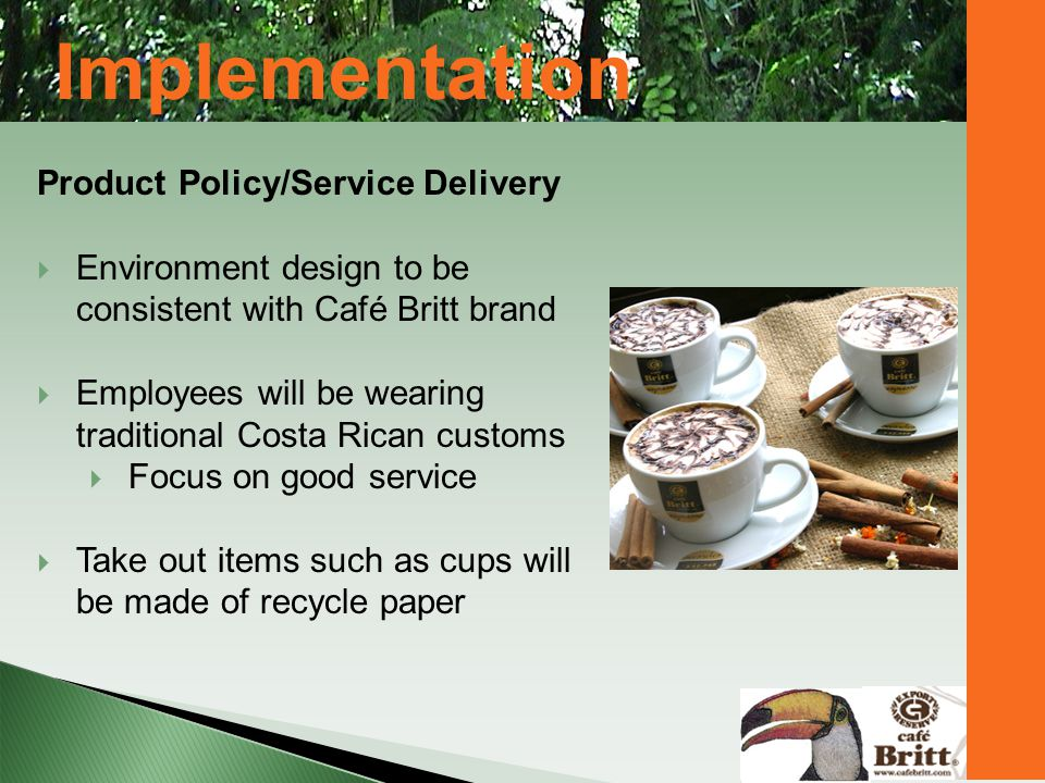 Implementation Product Policy/Service Delivery