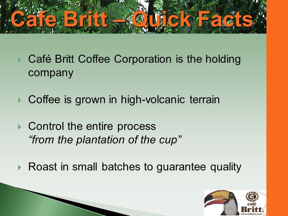 Cafe Britt – Quick Facts