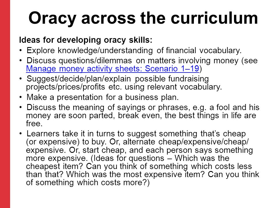 Oracy across the curriculum