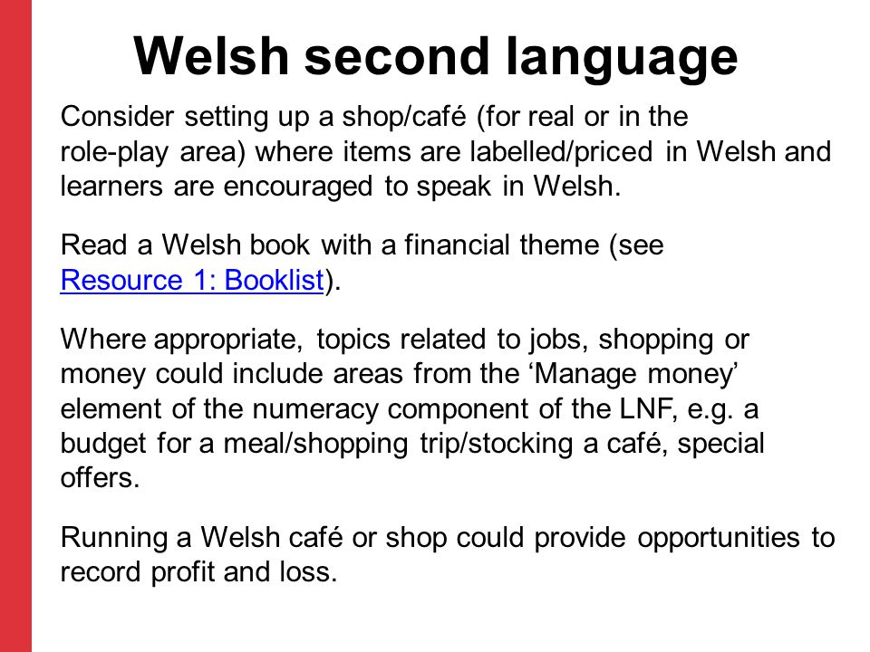 Welsh second language