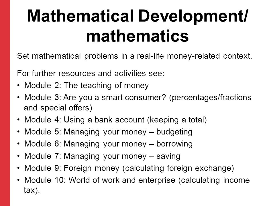 Mathematical Development/ mathematics