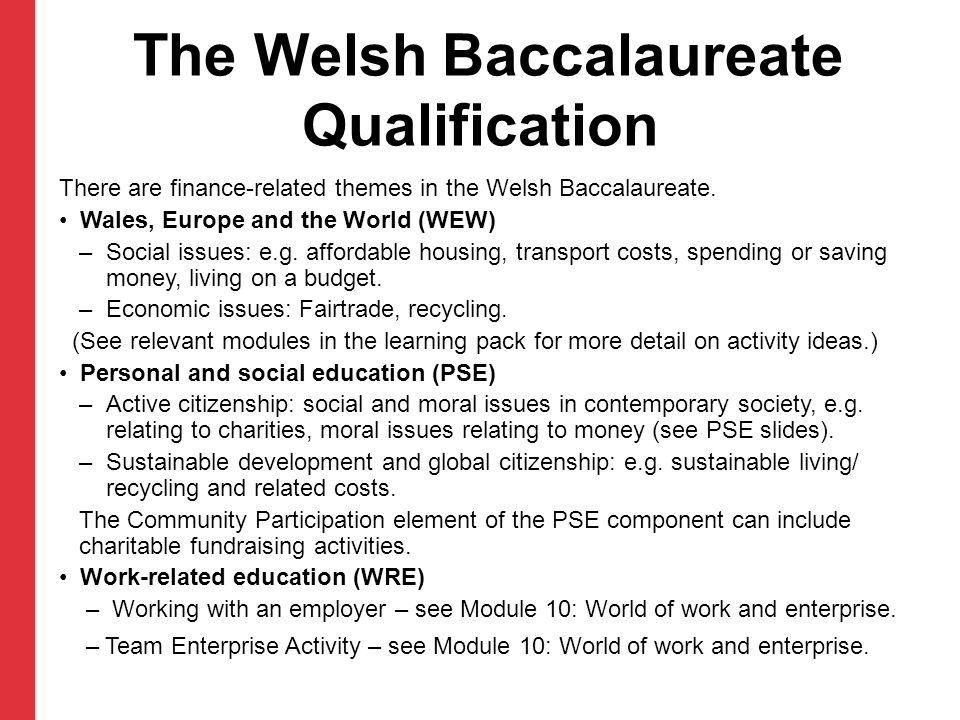 The Welsh Baccalaureate Qualification