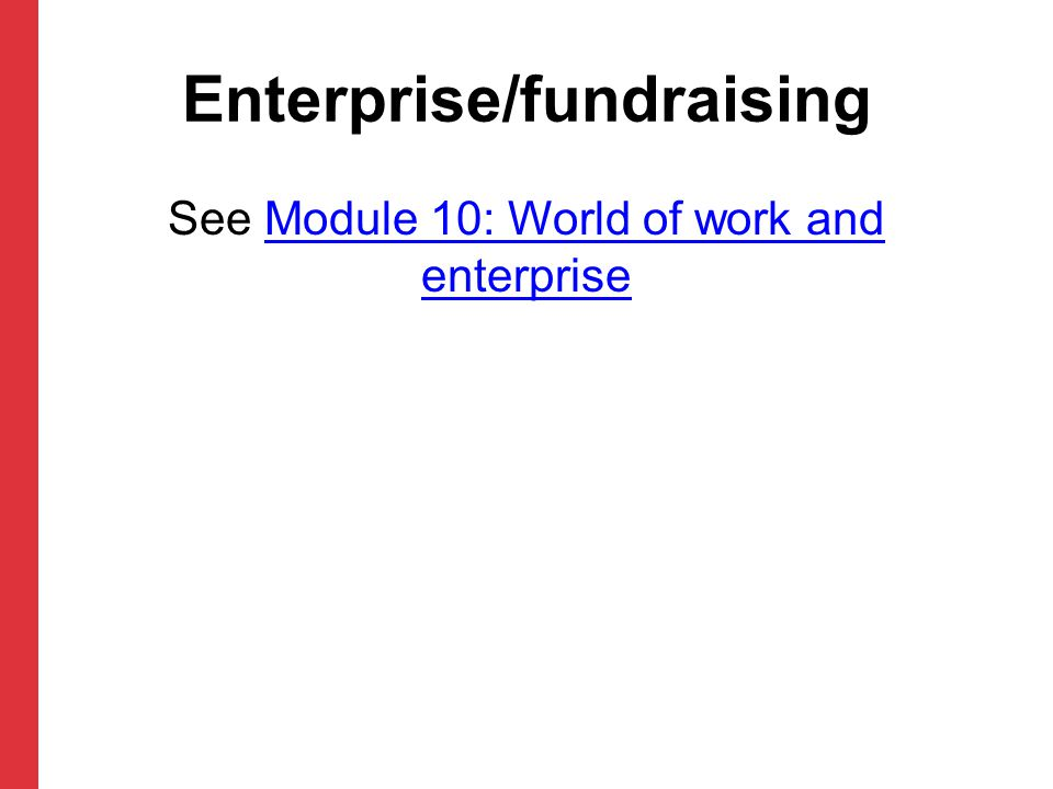 Enterprise/fundraising