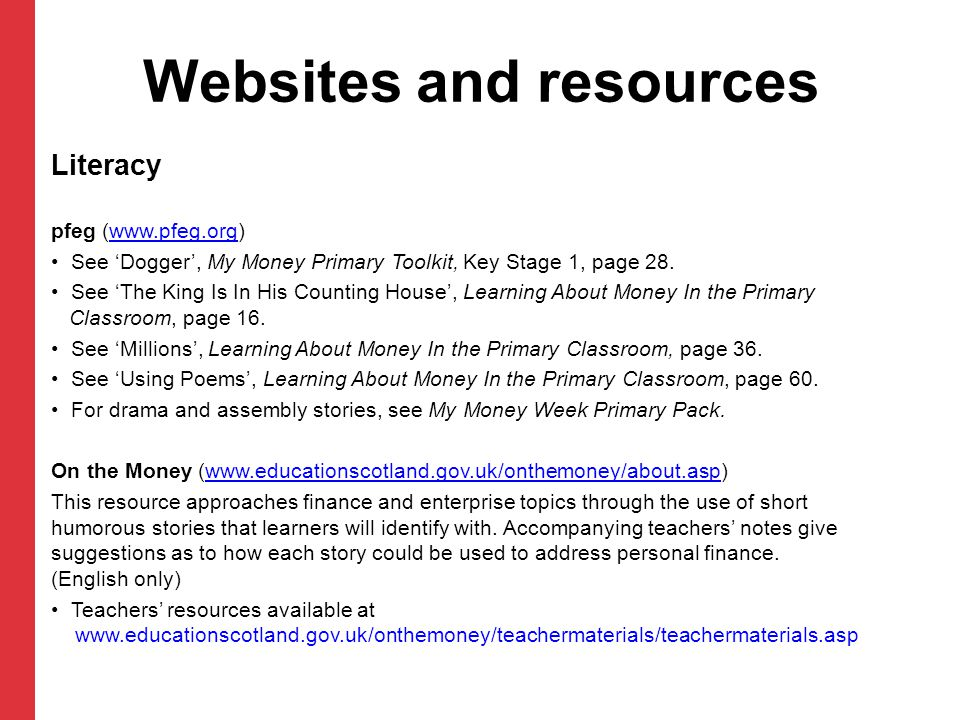 Websites and resources
