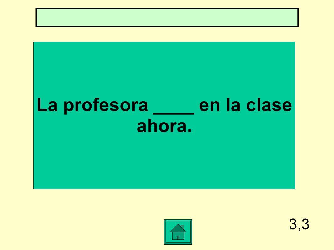 La profesora ____ en la clase