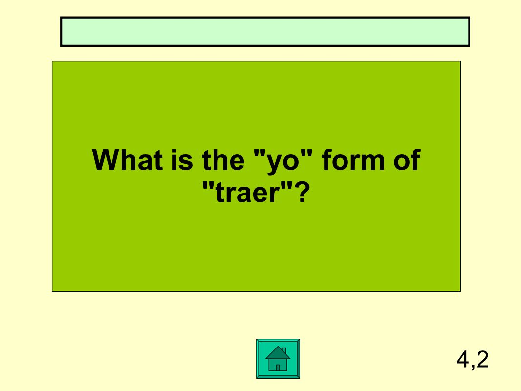 What is the yo form of traer