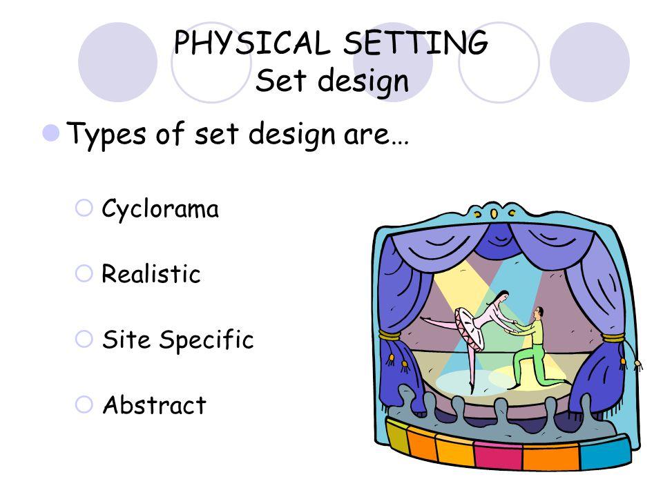 PHYSICAL SETTING Set design