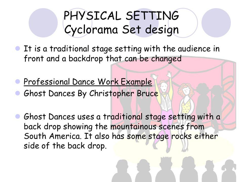 PHYSICAL SETTING Cyclorama Set design