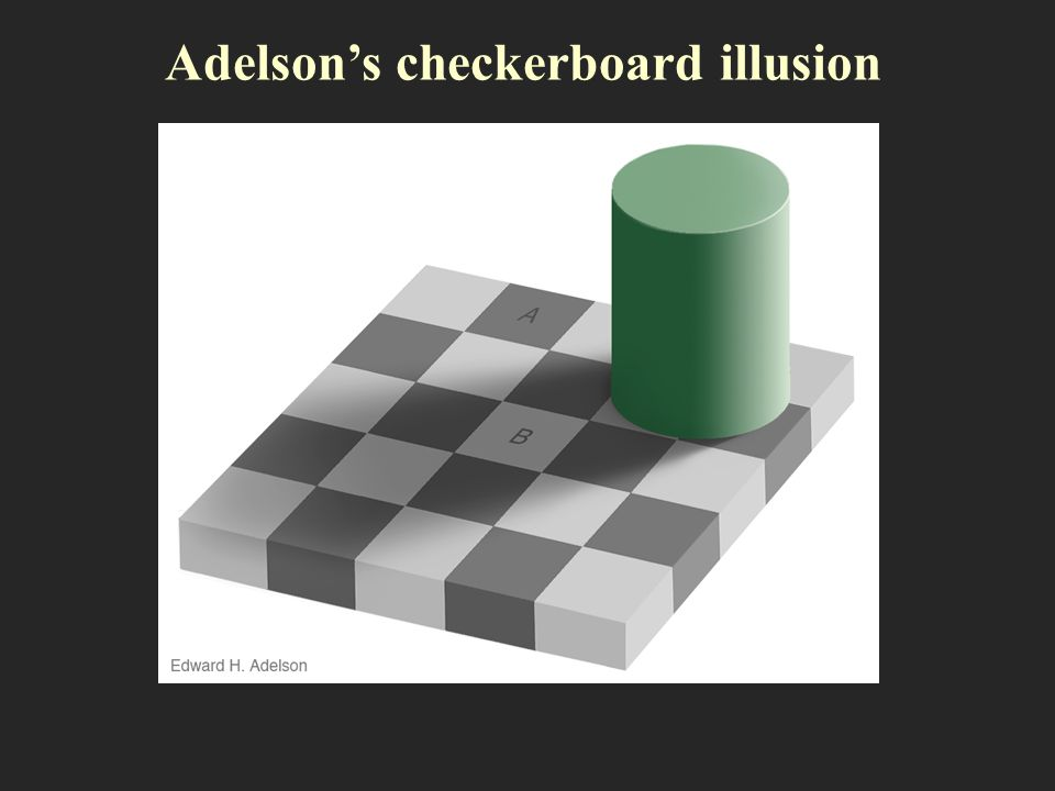 Adelson's checkerboard illusion