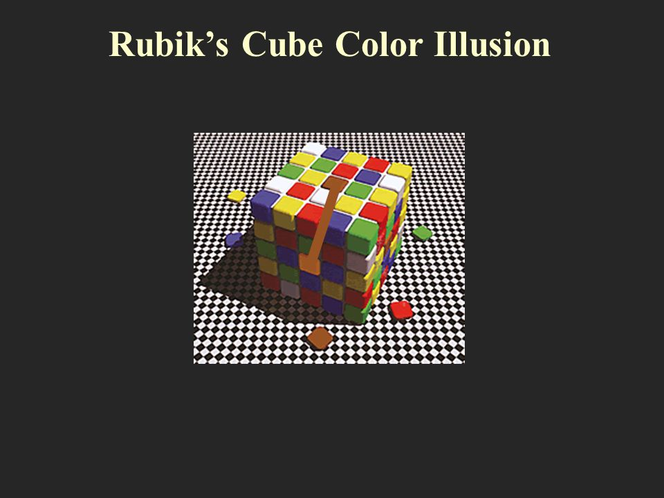 Rubik's Cube Color Illusion
