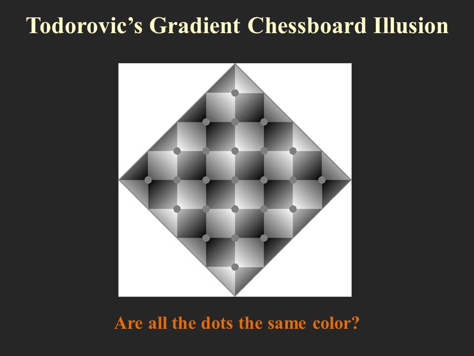 Todorovic's Gradient Chessboard Illusion