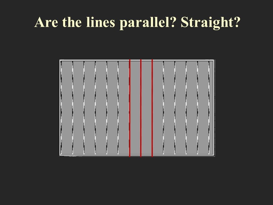 Are the lines parallel Straight