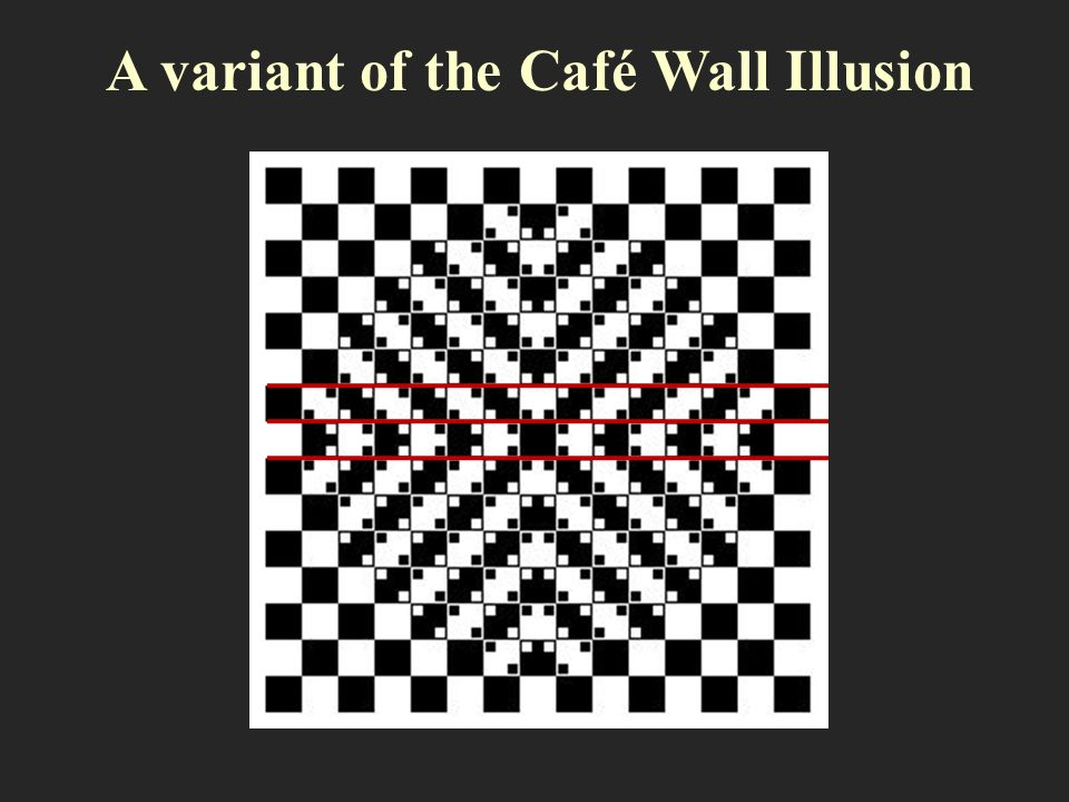 A variant of the Café Wall Illusion