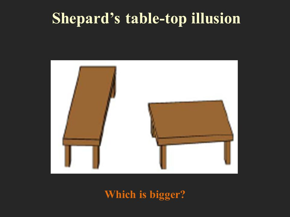Shepard's table-top illusion