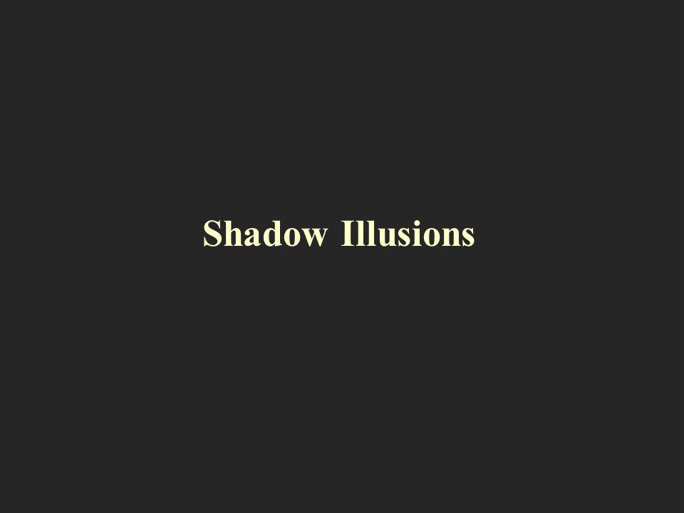 Shadow Illusions