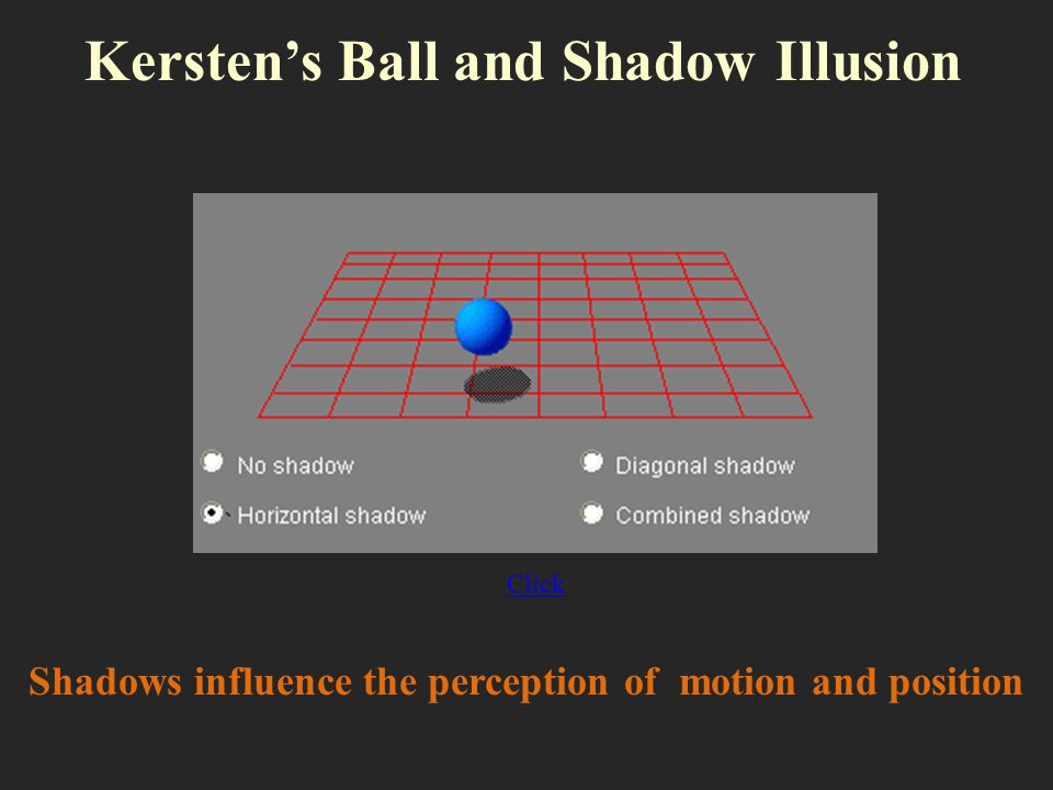 Kersten's Ball and Shadow Illusion