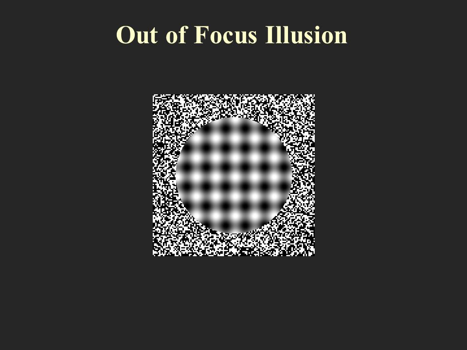 Out of Focus Illusion