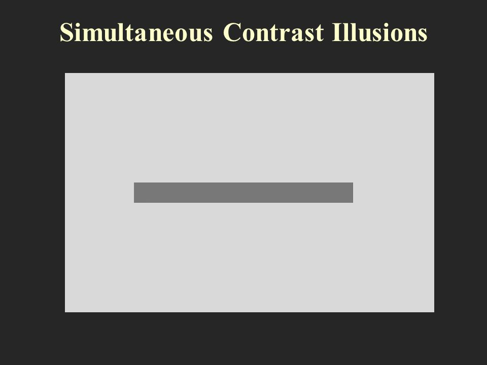 Simultaneous Contrast Illusions
