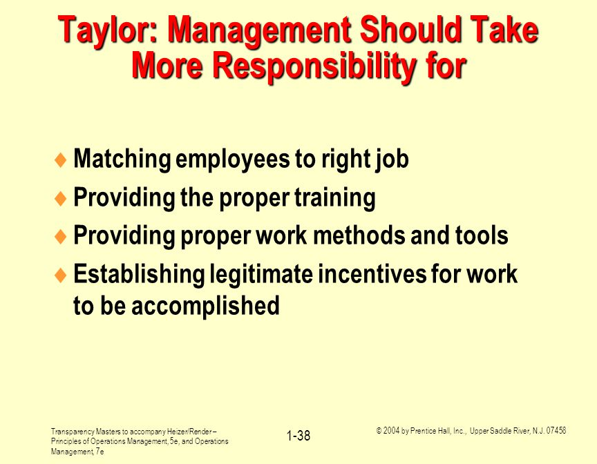 Taylor: Management Should Take More Responsibility for